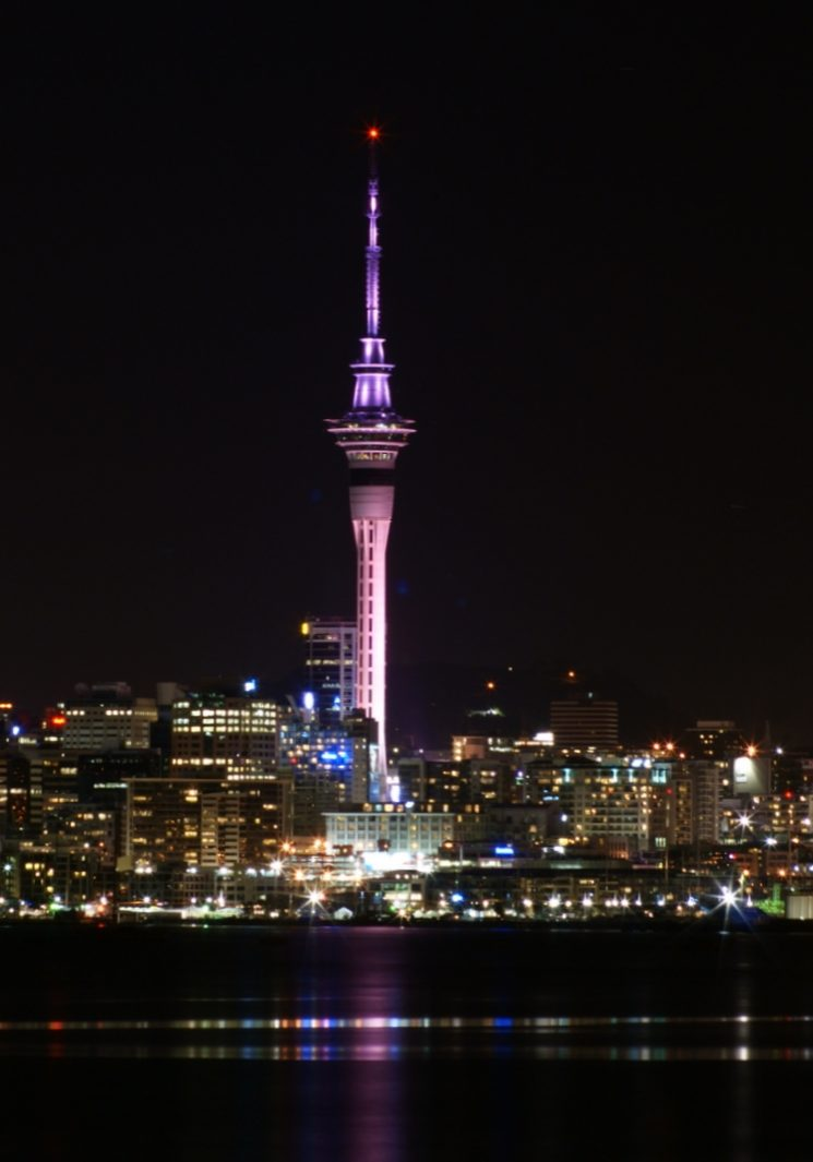 skycity night view image